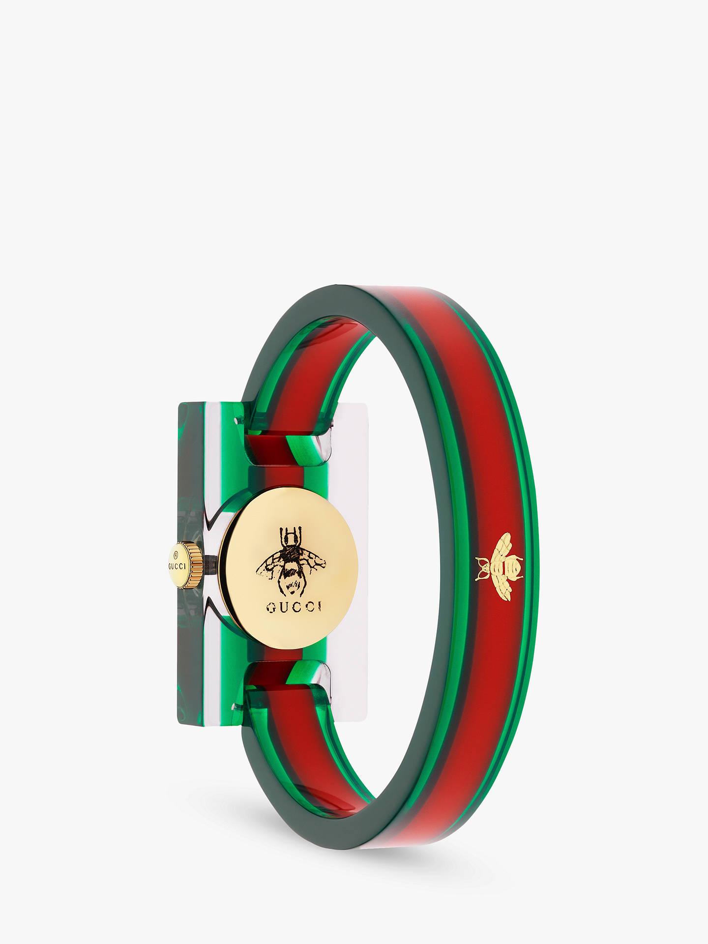 dd164a5c743 Buy Gucci YA143501 Women s Plexiglas Bangle Strap Watch