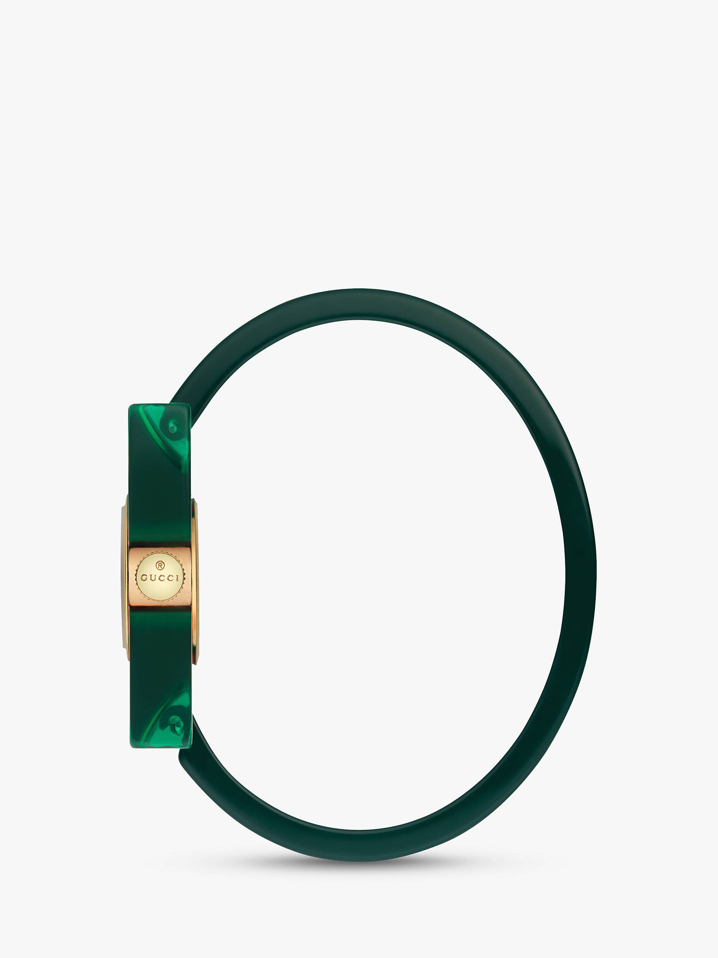 3470f2d7d88 Buy Gucci YA143501 Women s Plexiglas Bangle Strap Watch