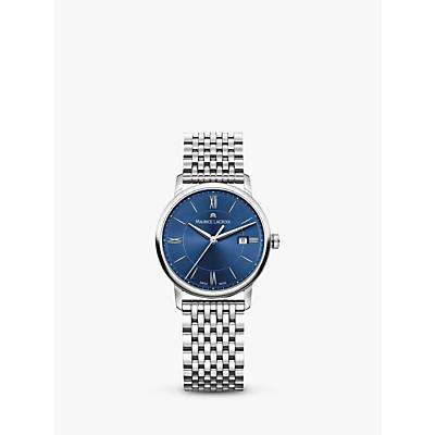 Maurice Lacroix EL1094-SS002-410-1 Women's Eliros Date Bracelet Strap Watch, Silver/Blue