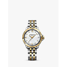 Buy Raymond Weil 5960-STP00995 Women's Tango Diamond Date Two Tone Bracelet Strap Watch, Silver/Gold Online at johnlewis.com