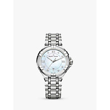 Buy Maurice Lacroix AI1004-SS002-170-1 Women's Aikon Diamond Date Bracelet Strap Watch, Silver/Mother of Pearl Online at johnlewis.com