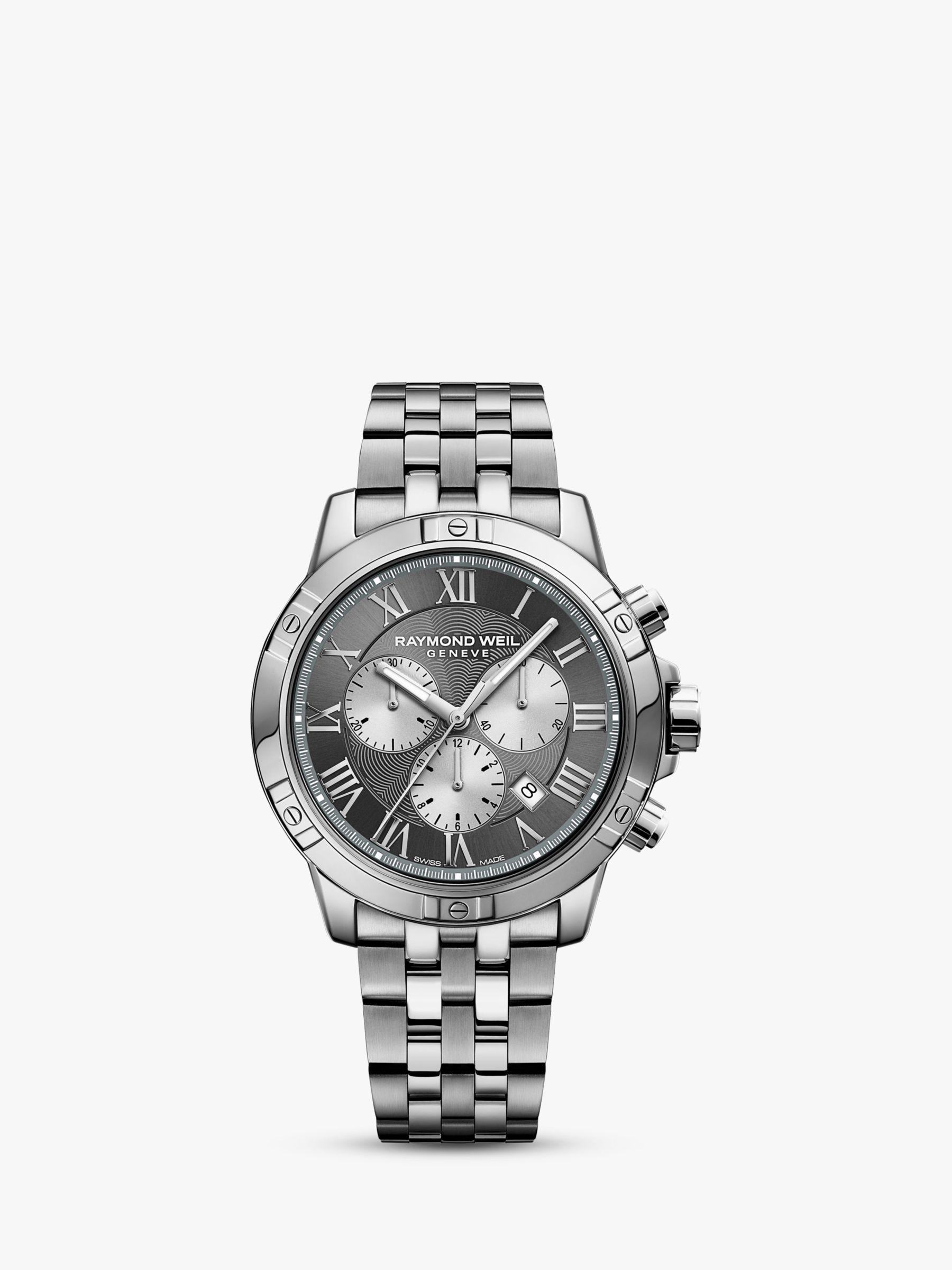 Raymond Weil Raymond Weil 8560-ST00606 Men's Tango Chronograph Date Bracelet Strap Watch, Silver/Grey