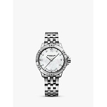Buy Raymond Weil 5960-STP00995 Women's Crystal Bracelet Strap Watch, Silver Online at johnlewis.com