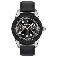 Buy Montblanc 117548 Men's Summit Leather Strap Smart Watch, Black Online at johnlewis.com