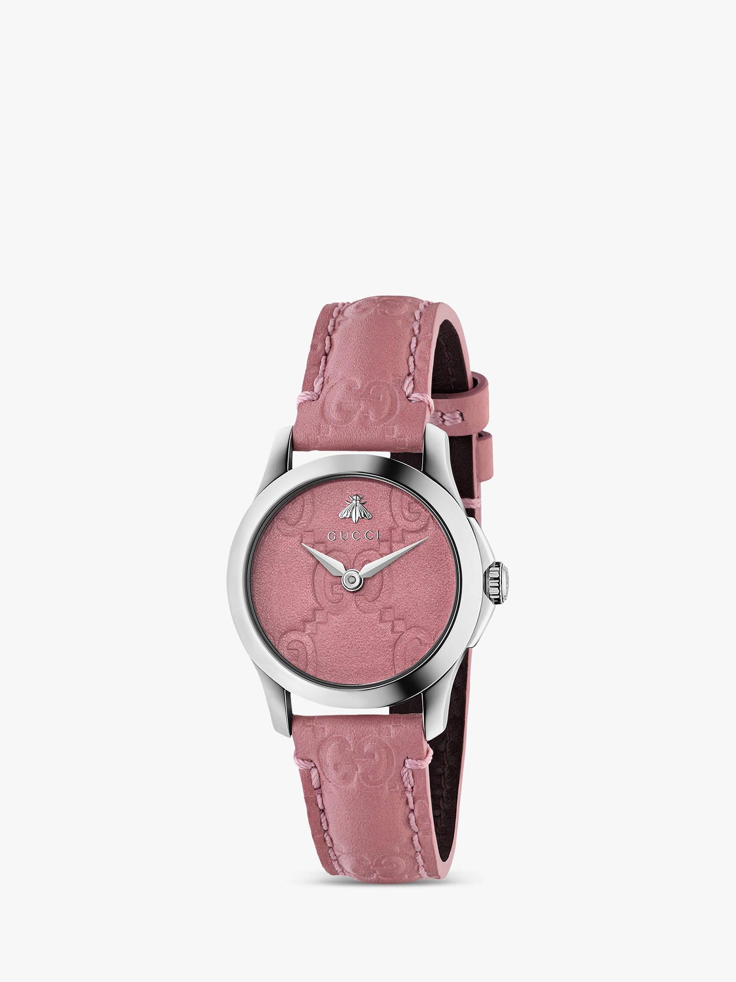 bbf2e1ad2e2 Gucci YA126578 Women s G-Timeless Signature Leather Strap Watch ...
