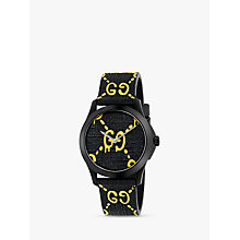 Buy Gucci YA1264019 Unisex G-Timeless Rubber Strap Watch, Black Online at johnlewis.com