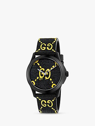 5d337e96fea Gucci YA1264019 Unisex G-Timeless Rubber Strap Watch