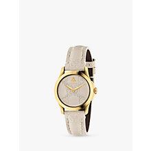 Buy Gucci YA126580 Women's G-Timeless Leather Strap Watch, Cream Online at johnlewis.com