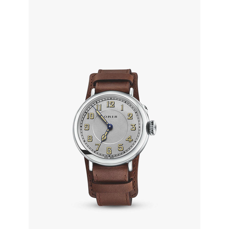 Cheap Latest Oris 0173277364081-Set Big Crown 1917 Watch Brown/Silver for Men On Sale Sale Online