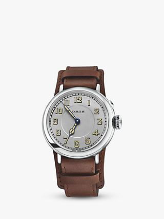 Oris 0173277364081-SET Big Crown 1917 Watch, Brown/Silver