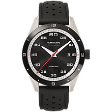 Buy Montblanc 116059 Men's Timewalker Automatic Date Rubber Strap Watch, Black Online at johnlewis.com