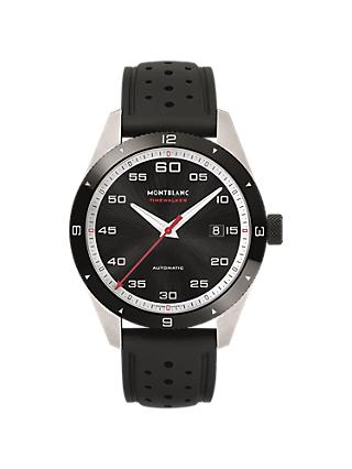 Montblanc 116059 Men's Timewalker Automatic Date Rubber Strap Watch, Black