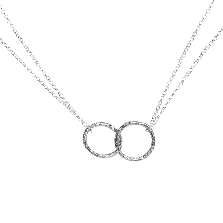 Matthew calvin double meteorite ring pendant necklace at john lewis buymatthew calvin double meteorite ring pendant necklace silver online at johnlewis mozeypictures Choice Image