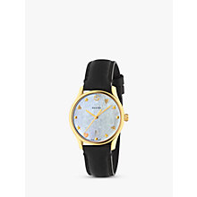 Buy Gucci YA126589 Women's G-Timeless Stainless Steel Leather Strap Watch, Black Online at johnlewis.com