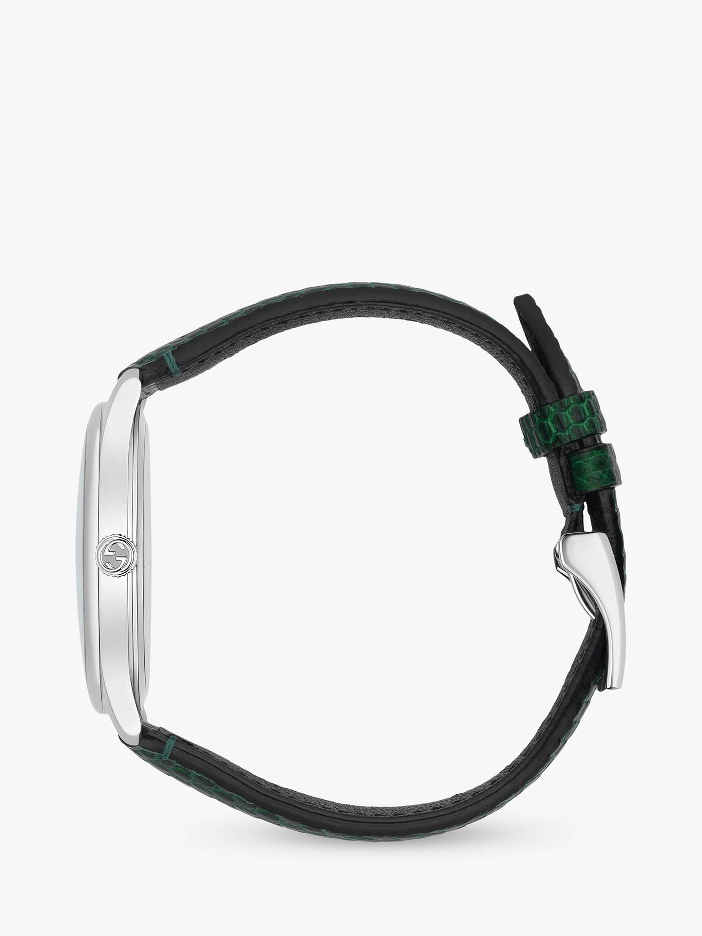 1d79f4b575f ... Buy Gucci YA1264049 Women s G-Timeless Date Leather Strap Watch