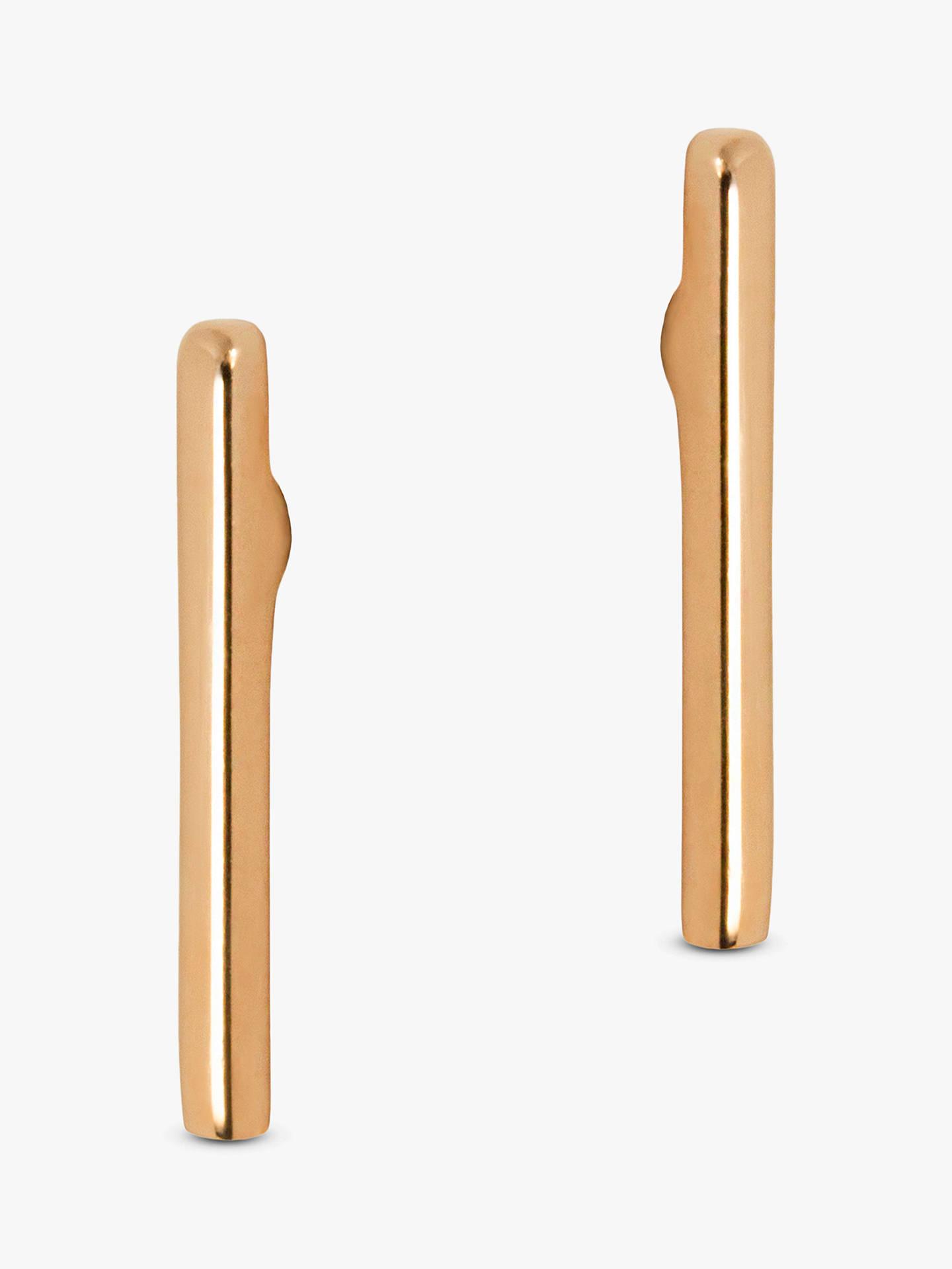 Matthew Calvin Thin Wire Stud Earrings, Gold by Matthew Calvin