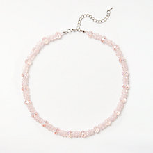 Buy John Lewis Glass Crystal Collar Necklace, Pink Online at johnlewis.com