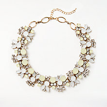 Buy John Lewis Coloured Stone Collar Necklace, Gold/Limoncello Online at johnlewis.com