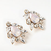 Buy John Lewis Glass Crystal Cluster Stud Earrings, Clear/Opal Online at johnlewis.com