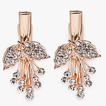 Buy John Lewis Glass Crystal Flower Hair Grip, Pack of 2, Rose Gold Online at johnlewis.com