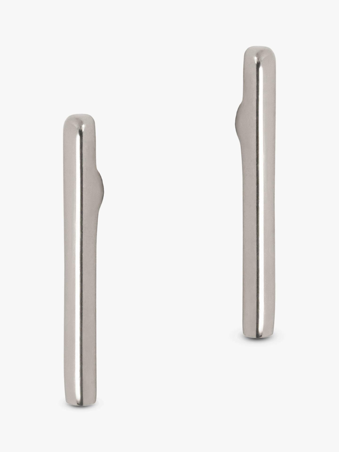 Matthew Calvin Thin Wire Stud Earrings, Silver by Matthew Calvin