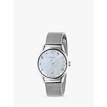 Buy Gucci YA1264040 Women's G-Timeless Date Bracelet Strap Watch, Silver Online at johnlewis.com