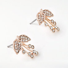 Buy John Lewis Glass Crystal Flower Stud Earrings, Rose Gold Online at johnlewis.com