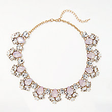 Buy John Lewis Glass Crystal Collar Necklace, Lilac/Opal Online at johnlewis.com