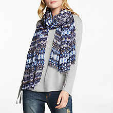 Buy AND/OR Aztec Print Scarf, Blue Mix Online at johnlewis.com