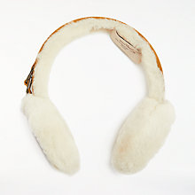 Buy UGG Classic Earmuff, One Size, Chestnut/White Online at johnlewis.com