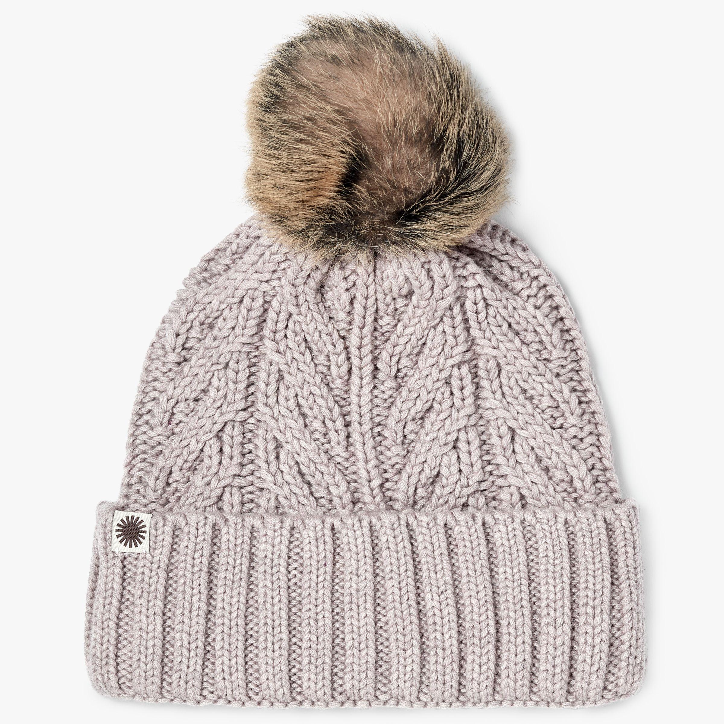 UGG Textured Cuff Pom Pom Beanie Hat at John Lewis   Partners cf9c325f65f9