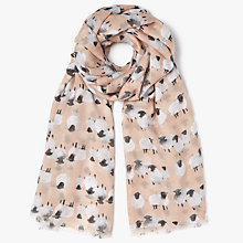 Buy John Lewis Sadie Sheep Scarf, Pink/Multi Online at johnlewis.com