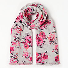 Buy John Lewis Floral Scarf, Pink Mix Online at johnlewis.com