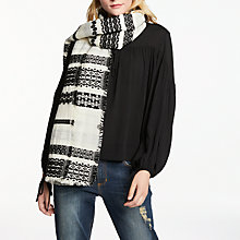 Buy AND/OR Textured Embroidered Cotton Scarf, Multi Online at johnlewis.com