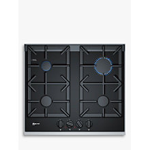 Buy Neff T26TA49N0 Gas Hob, Black Online at johnlewis.com