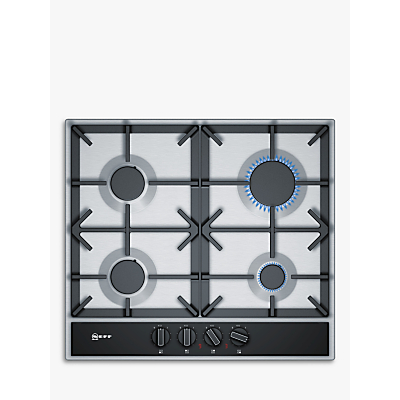 Image of Neff T26DA49N0 4 burner Black Stainless steel Gas Hob