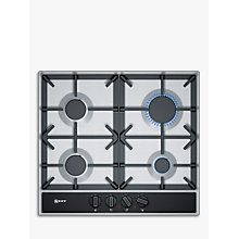 Buy Neff T26DA49N0 FlameSelect Gas Hob, Stainless Steel Online at johnlewis.com