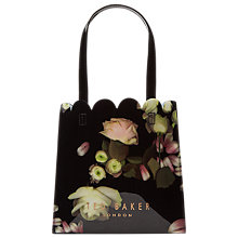 Buy Ted Baker Yaracon Kensington Floral Small Shopper Bag, Black Online at johnlewis.com