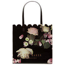 Buy Ted Baker Coracon Kensington Floral Large Shopper Bag, Black Online at johnlewis.com