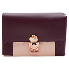 Buy Ted Baker Jemms Leather Robot Lock Cross Body Bag Online at johnlewis.com