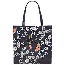 Buy Ted Baker Jenacon Kensington Floral Large Icon Shopper Bag, Mid Blue Online at johnlewis.com