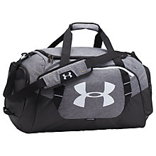 Buy Under Armour Storm Undeniable 3.0 Duffle Bag, Medium, Graphite/Black Online at johnlewis.com