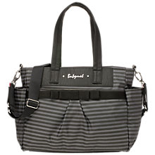 Buy Babymel Cara Stripe Changing Bag, Grey Online at johnlewis.com