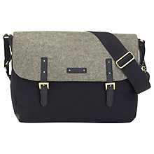 Buy Storksak Ashley Felt Messenger Changing Bag, Black/Grey Online at johnlewis.com