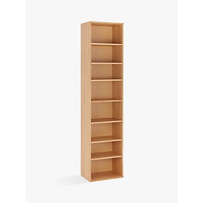 John Lewis & Partners Abacus Narrow 7 Shelf Bookcase, FSC-Certified (Oak Veneer)