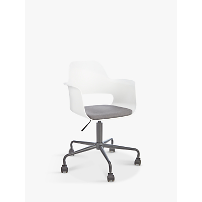 House by John Lewis Whistler Office Chair, White/Grey