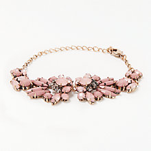 Buy John Lewis Statement Bracelet, Gold/Dust Pink Online at johnlewis.com