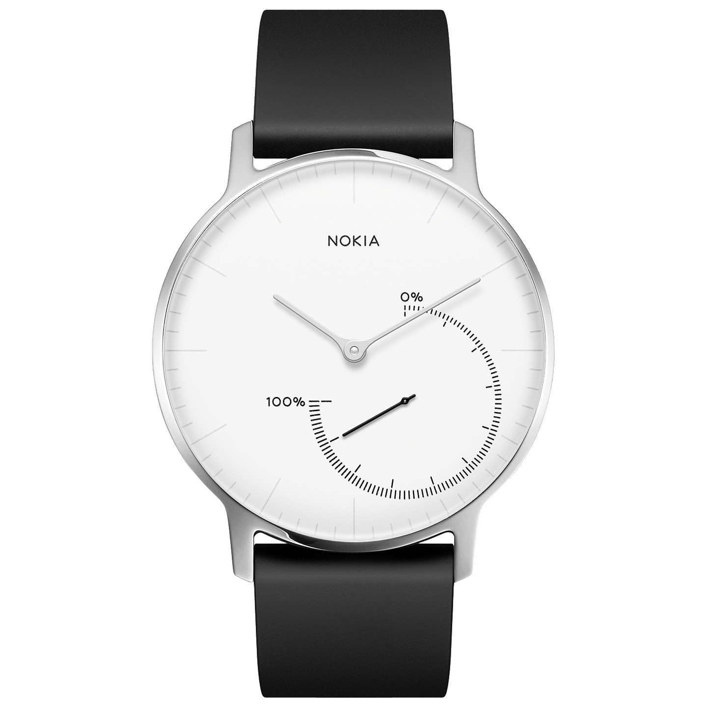 BuyNokia Steel Activity & Sleep Tracking Watch, Black/White Online at johnlewis.com