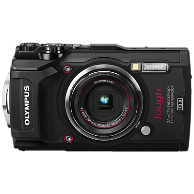 Olympus Tough TG-5 GPS Waterproof, Freezeproof, Shockproof, Dustproof Compact Digital Camera, 12MP, 4K UHD, 4x Optical Zoom, Wi-Fi, RAW Shooting, 3 LCD Screen