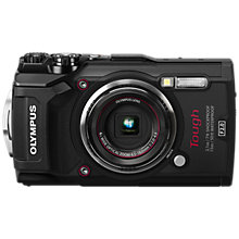 "Buy Olympus Tough TG-5 GPS Waterproof, Freezeproof, Shockproof, Dustproof Compact Digital Camera, 12MP, 4K UHD, 4x Optical Zoom, Wi-Fi, RAW Shooting, 3"" LCD Screen, Black Online at johnlewis.com"